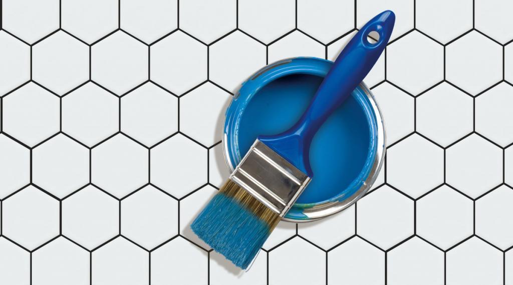 какой краской можно покрасить плитку на кухне