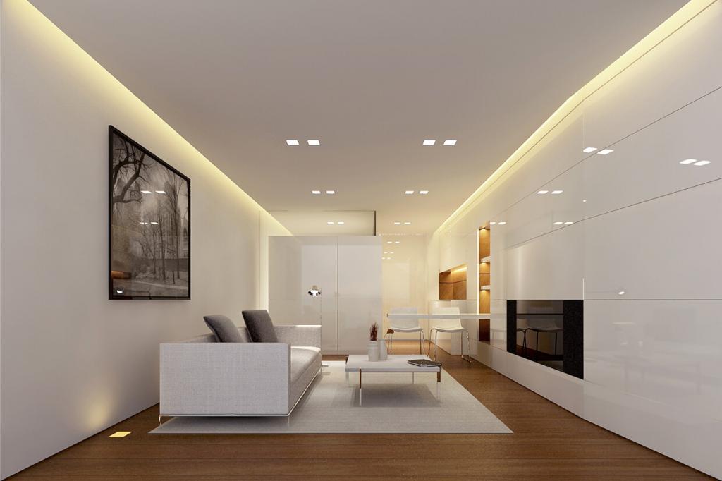 плинтус для натяжного потолка с подсветкой